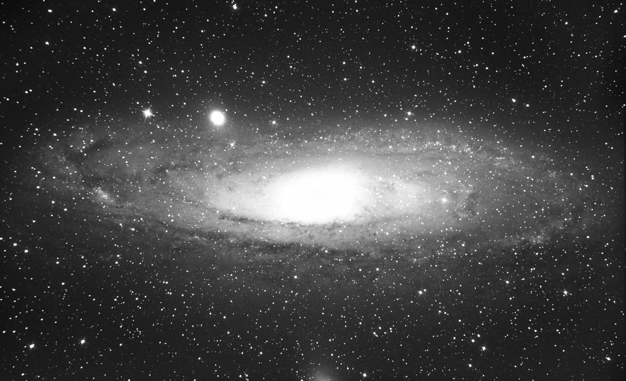 Andromeda Galaxy Through 8 Inch Telescope - Pics about space