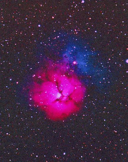 M20 Trifid Nebula From Earth - Pics about space