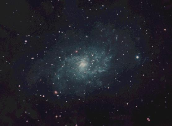 [M33 in color]