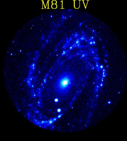 [M81 in UV, Astro-1/UIT]