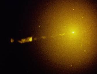 [M87 in radio light, NRAO]