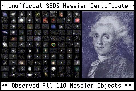[All Messier Observer Certificate]